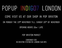 Visit our PopUp Shop in Pop Brixton to see our new collection of organic, positive tees and sweatshirts for men and women!