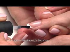 Step by step for CND Shellac Application and Removal for a French Manicure.
