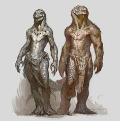 Crokodan creatures, Vlad Gheneli on ArtStation at https://www.artstation.com/artwork/YBKDq