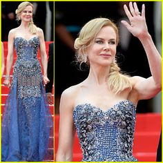 Nicole Kidman Stuns in Intricately Beaded Dress at 'Grace of Monaco' Cannes Premiere