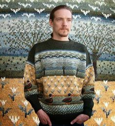. . . Kaislakerttu Lehtovaara - Maalauksia . . .: Neuleet Fair Isle Knitting Patterns, Fair Isle Pattern, Knitting Designs, Knitting Books, Lace Knitting, Knit Crochet, Fair Isle Chart, Sweater Design, Knit Fashion