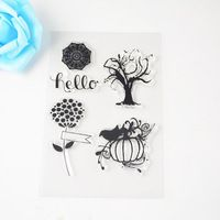 Tree and flower  Design clear Transparent Stamp DIY Scrapbooking/Card Making/Christmas Decoration Supplies
