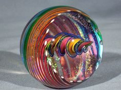 Marbles Hand Made Art Glass James Alloway Dichroic Marble 1361 2 75 Inch | eBay