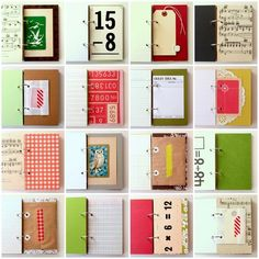 Vintage scrap journals - these are amazing. I want to start hoarding old papers now.