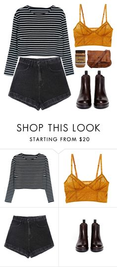 """""""Freaks and Geeks"""" by megmara ❤ liked on Polyvore featuring Intimately Free People and Sam Edelman"""