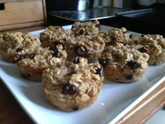 banana chocolate oatmeal muffins