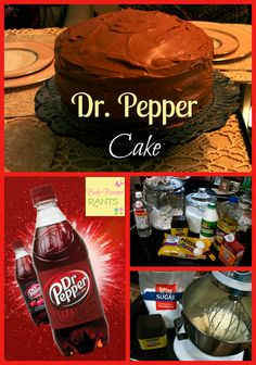 Dr. Pepper Cake! Our youngest just had a birthday last week, he turned 17. He LOVES Dr. Pepper and he mentioned to his girlfriend that he loved Dr. Pepper Cake, so she said she would make him one.