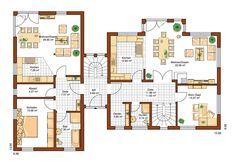 Stadtvilla Atlanta | Haupthaus als Wohnung, angeschlossener Bungalow als Unterrichts- und Büroräume.