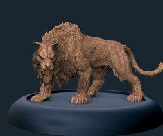 "ArtStation - ""Sabretooth-tiger"" for Conan game, Laslo Forgach Extinct Animals, Rare Animals, Mythological Creatures, Mythical Creatures, Artwork Design, Cool Artwork, Conan Game, Animal Sculptures, Lion Sculpture"