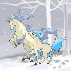 Shiny Rapidash and shiny Ponyta
