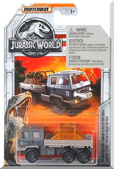 Matchbox - Off-Road Rescue Rig: Jurassic World - Fallen Kingdom *Gray* Lego Jurassic Park, Jurassic Park World, Tyre Shop, Jurassic World Fallen Kingdom, Lego Military, Falling Kingdoms, Matchbox Cars, Hot Wheels Cars, Truck Bed