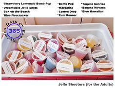 11 AMAZING Jello Shooter Recipes - a summer weekend is not complete without them   365 Days of Easy Recipes