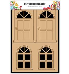 To decorate object decorate. For scrapbooking and decoration design. MDF Dutch DooBaDoo, Door and window.
