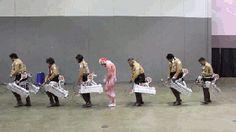 shingeki no kyojin attack on titan snk aot dancing gif - Google Search
