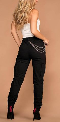 Clyde Highwaisted Black Cargo Pants. Aesthetic Clothes ... befb5b5a2
