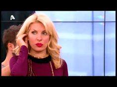 Eleni Menegaki wearing Klaidra fringe necklace at Eleni, Alpha Tv 15november213 #tb #klaidrajewelry #greekdesigners #fringenecklace #alphatv