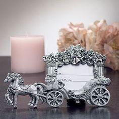 Horse and carriage place table seating card
