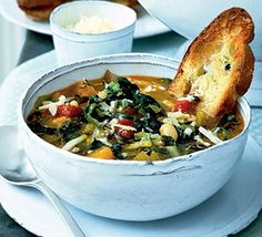 The River Cafe's winter minestrone - A really thick, filling minestrone soup - tastes even better after a day