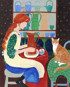 The Potter and her Cat ~*~ Dee Nickerson