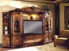 I like it Tuscan Entertainment center | ... Less - Aico Collections - Cortina - Tuscano - Entertainment Center