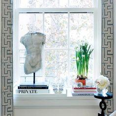 A very stylish window sill.