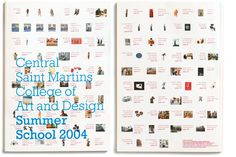 Front and back covers of Central Saint Martins College of Art and Design's Summer School 2004 brochure