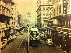 Johannesburg tram in Ellof street Johannesburg City, City Boy, Historical Pictures, African History, The Good Old Days, Old Photos, South Africa, Landscape Photography, Nostalgia