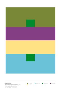 "Josef Albers Interaction of Color: ""a color has many faces"" color study"