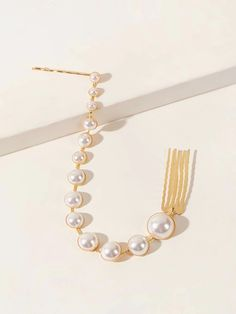 Faux Pearl Decor Hair Accessory | SHEIN South Africa Hair Accessory, Free Gifts, Hair Clips, Pearl Necklace, Pearls, South Africa, Accessories, Jewelry, Decor