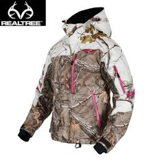 Ready for skiing powdery slopes or fast-burning rides on a snowmobile, this Realtree Camo FXR's flashy and versatile Fresh Jacket is built to take on your exciting winter adventures.