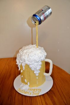 Fathers Day Beer My version of the mug of beer cake I have seen on here so many times!! Inspired from so many... The only problem was that...
