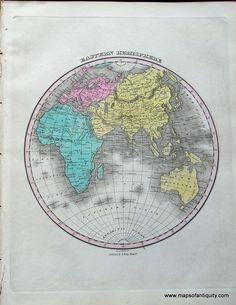 Eastern-Hemisphere. Antique world Map www.mapsofantiquity.com