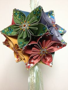 Origami for Everyone – From Beginner to Advanced – DIY Fan Folded Paper Flowers, Tissue Paper Flowers, Fabric Flowers, Paper Flower Ball, Kirigami, Origami For Beginners, Paper Crafts Origami, Paper Ornaments, Origami Design