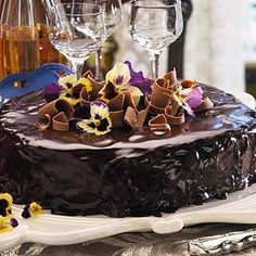 The chocolate glaze and apricot preserves spread on this dense chocolate cake are characteristic of this dessert, named for the Viennese hotel owner who created it in 1823.