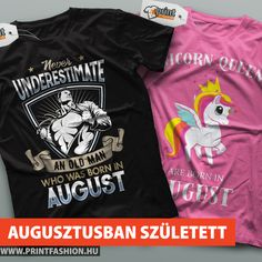 Egyedi szülinapos pólók! Többféle színben, női, férfi és gyerek születésnapos pólók. WEBSHOP: http://printfashion.hu/kereses/?kulcsszo=születésnap