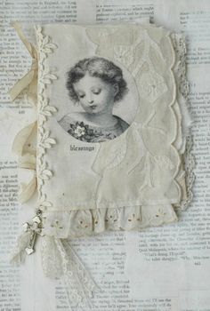 """MIXED MEDIA FABRIC COLLAGE """"DIVINE BLESSINGS"""" BOOK   eBay"""