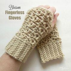 Blossom Fingerless Gloves - FREE Crochet Pattern