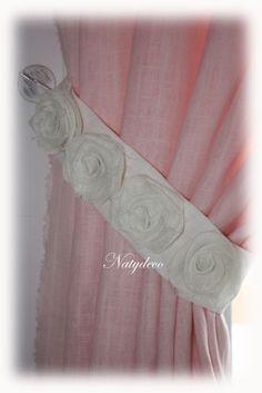 Embrasse de rideau en lin NATYDECO fabrication artisanale http://www.natydecocorse.com