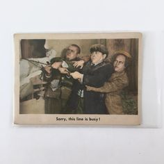 3 Stooges Vintage Trading Card, 1959, #95, Sorry This Line is Busy, Fleer, Norman Maurer Productions, Very Good Condition, Moe, Larry, Curly by BarnabyGlenVintage on Etsy