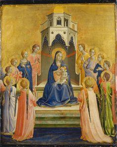 Thronende Madonna mit Kind und zwölf Engeln von Fra Angelico aus der Digitalen Sammlung des Städel Museums