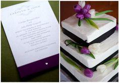 .Matching cake and invitation