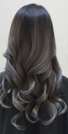 black to gunmetal gray/silver ombre