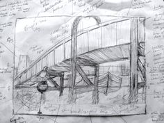 1 A preliminary sketch of the Bridge project.  Looked simple enough but deciding when to sew on what is proving tricky!