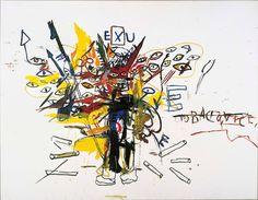 Jean Michel Basquiat at Guggenheim Museum Bilbao ( Detail From Painting ) Basquiat Artist, Jm Basquiat, Basquiat Paintings, Art Paintings, Graffiti Art, Musée Guggenheim Bilbao, Jean Michel Basquiat Art, Radiant Child, Painting Art