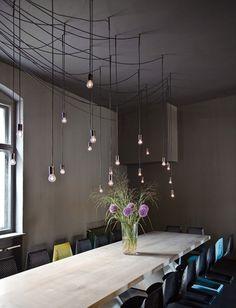 TIN Restaurant Bar Club Berlin by karhard® architektur + design Design Café, Home Design Decor, House Design, Home Decor, Design Ideas, Restaurant Design, Restaurant Bar, Interior Lighting, Lighting Design