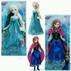 New Disney Store Frozen Queen Elsa And Princess Anna 12 Classic Doll Set Of 2
