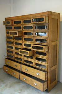 Vintage 36 Drawer Haberdashery Cabinet Chest Shop Fitting Display #503