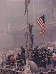 The spirit of American rises immediately even in a crisis. Don't forget Benghazi was another - remember the four who died there today as well. Demand answers on Benghazi We Will Never Forget, Lest We Forget, Always Remember, Remember 911, Don't Forget, 11 September 2001, Remembering September 11th, American Flag, American History