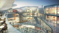 10 DESIGN Summer International Retail Centre and Mixed Use Development, Zhuhai, China Commercial Complex, Commercial Street, Architecture Magazines, Facade Architecture, Atrium Design, Arch Street, Public Space Design, Mixed Use Development, Zhuhai