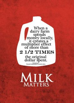 Dairy and the Economy. Did you know? #CelebrateDairy #2013JuneDairyMonth